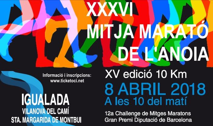Mitja Marató de l' Anoia - 10km. Ciutat d' Igualada